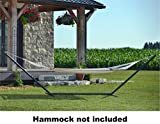 Vivere 15BEAM-BLK Heavy Duty 3-Beam Hammock Stand, 15-Feet, Black