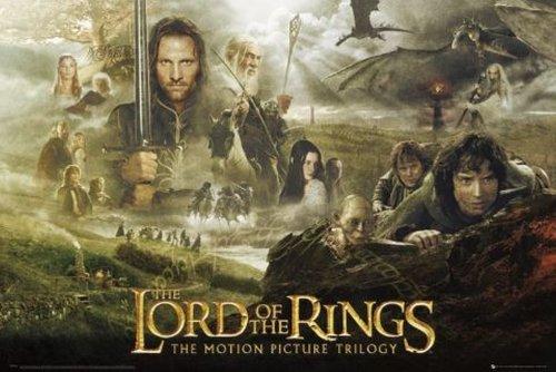 Poster: Il Signore degli Anelli, Trilogia - Collage, dimensioni: 60 x 90 cm Unframed