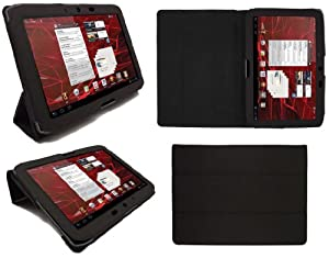 SD Tabletwear - Motorola Xoom 2 10.1 Executive Pro Multi-Function Case Luxury Wallet, Cover, Stand, Flip Case - Black