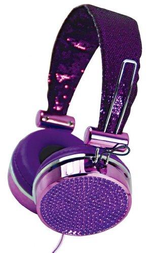 27b38310786a Hype JEWEL HY-955-PRP Purple 3.5mm Stereo Headset Headphones w. Mic