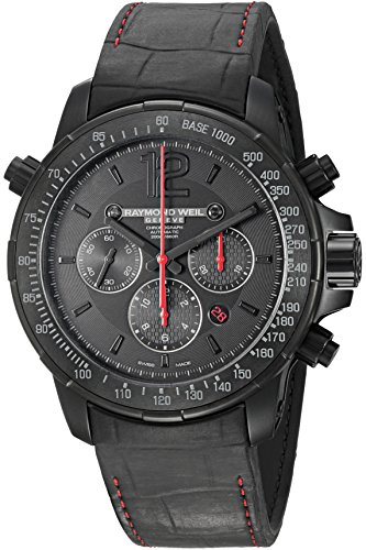Raymond-Weil-Mens-Nabucco-Swiss-Automatic-Stainless-Steel-and-Rubber-Casual-Watch-ColorBlack-Model-7850-BSF-05207