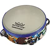 Remo RHYTHM CLUB, Tambourine, 1.75 x 6, 4 Sets Jingles, Rhythm Kids Graphics