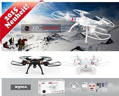 Quadrocopter-Drohne-Quadcopter-mit-Pro-HD-Kamera-Videoaufnahme-Fotoaufnahme-ORIGINAL-SYMA-X8C-Pro-HD-UPGRADE-RC-XXXL-UFO-ferngesteuert-mit-Propellerschutz-24-GHz-RTF-4-Kanal-Ready2fly