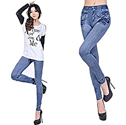 isweven Girls Slim Fit Jeggings(j18 Blue Free Size)