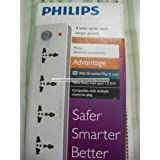 Philips 4 Way Extension Board With Spike & Surge Guard (Philips Spike Buster / Philips Surge Protector)