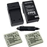 2 PACK NB-4L Replacement Battery + Battery Charger for Canon PowerShot SD780 IS / PowerShot SD940 IS / PowerShot SD1400 IS Digital Camera