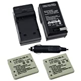 2 Replacement Canon NB-4L Batteries and Battery Charger for Canon Digital IXUS 30 / 40 / 50 / 55 / 60 / 65 / 70 / 75 / 80 IS