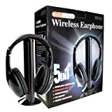 Digital family 5-in-1 Wireless Headphones w/Microphone Emitter for PC TV CD FM MP3/MP4 Radio