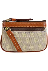 Dooney & Bourke Quilted Signature Coin Wallet Lavender