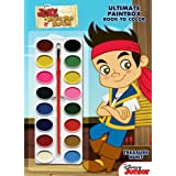 Disney Jake And The Never Land Pirates Treasure Hunt Ultimate Paint Box Book To Color [With Paint Brush And Paint...