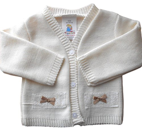 0-3-months-Baby-Girls-Pretty-Cream-Knitted-Cardigan