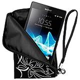 """mumbi NEOPREN Zipper Tasche Sony Xperia Z Handytasche FLOWER Power schwarz H�lle Beutelvon """"mumbi"""""""