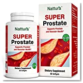 SUPER PROSTATE - Powerful, All-Natural, Strongly Anti-Inflammatory Formula Especially Created For Prostate and Vascular Health - With Sea Buckthorn Oil, Linseed Oil, Lecithin, Zinc - Non-GMO - 60 Caps