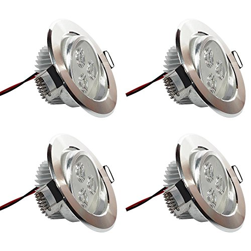[Pack of 4]eSavebulbs 3W LED Spotlight Dimmable LED Recessed Ceiling Downlight 6000K Daylight White Light Fixture AC 110V (Stainless Ceiling Vent Covers compare prices)