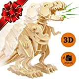 CYBER MONDAY SALE | T-Rex Dinosaur Walking Wooden 3D Puzzle Robot Toys - Top Imagination Building Toy Craft Puzzles for Kids - Children 7 & 8 Year Olds + Best Educational Christmas Gift for Boys Girls
