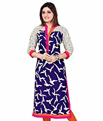 Fashion Galleria blue printed cotton kurti