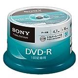 SONY データ用DVD-R 4.7GB 16倍速 罫線入りシルバーレーベル 50枚スピンドル 50DMR47KLDP