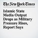 Islamic State Media Output Drops as Military Pressure Rises, Report Says | Scott Shane