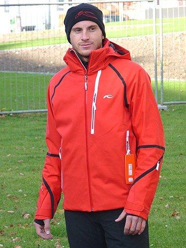 Kjus Men Fusion Jacket Skijacke Herren rot schwarz weiß 2011/2012, Größe:56