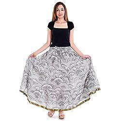 Sanganeri Abstract Pattern Design Cotton Skirt