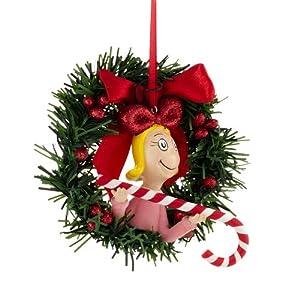 Department 56 Grinch Cindy Lou Sisal Wreath Ornament, 4.5-Inch
