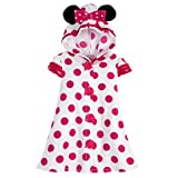 Disney Store Minnie Mouse Pink Polka Dot Terry Cloth Hooded 2T Swimsuit Cover Up with Ears Hoodie Pool Dress for Toddler Girls