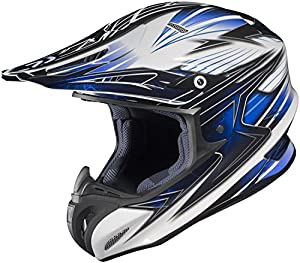 HJC Helmets Factor MC-2 Graphic RPHA X Off-Road Helmet (Blue/White/Black, Medium)