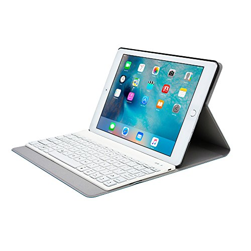 iPad Air 2 Keyboard case, COOPER AURORA FOLIO Bluetooth Detachable Removable Backlit QWERTY Wireless Keyboard Carrying Case Cover Folio with Stand for Apple iPad Air 2 (Blue) (Ipad Air 2 Top Rated compare prices)