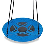 Two Fun Options for Hanging Your Swing 1) Hanging the flying saucer swing from single strap/hook allows it to spin. 2) Hanging the tree swing from two straps/hooks allows it to be used like a traditional swing where movement is back and forth...
