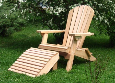 Kilmer Creek Folding Cedar Adirondack Chair with Ottoman