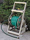 Hose Reel Cart 250 Ft with Storage Shelf