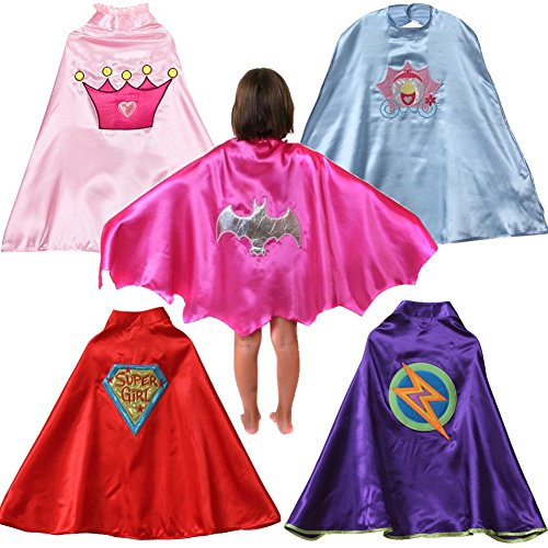 5 Pack: Girls Making Believe Assorted Dress-Up Capes