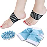 DR JK- Plantar Fasciitis, Heel Socks, Arch Support and Foot Massager PedPal Kit for Women and Men