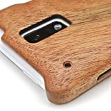HTC J ISW13HTケースカバー(木製:高級木マホガニー)無料修理保証有り
