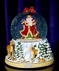 RADKO WINTER FOREST SANTA 150mm Musical Snow Globe Christmas
