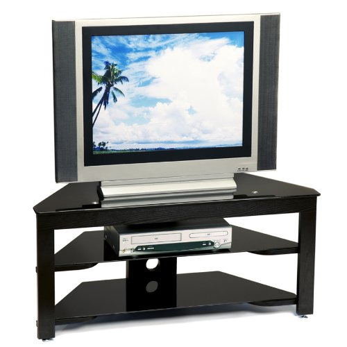 Convenience Concepts Classic Glass TV Stand, Black image