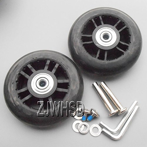 "Great Features Of Luggage Suitcase Replacement Wheels OD: 80mm (3.15"") ID: 6mm (0.24"") Wid..."