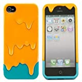 EFuture(TM) Orange/Blue 3D Melt Ice Cream Hard Case Cover for iPhone5/5G +eFuture's nice Keyring