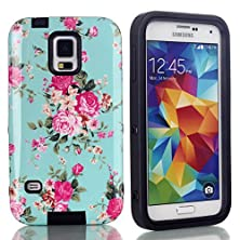 buy Samsung Galaxy S5 Case, 3 In 1 Hybrid Shield Case For Samsung Galaxy S5 With Silicone Case And Hard Pc Outer Case Cover For Galaxy S5