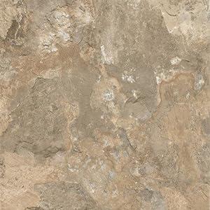 """Alterna Mesa Stone 16"""" x 16"""" Vinyl Tile in Beige - Vinyl Floor"""