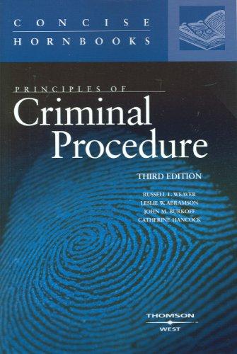 Principles of Criminal Procedure (Concise Hornbooks)
