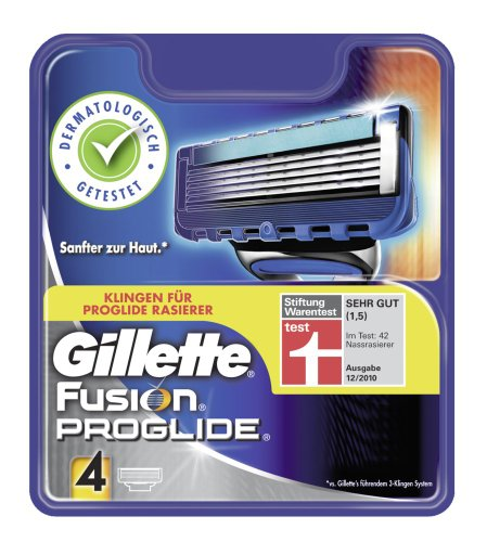 Gillette Fusion ProGlide Klingen, 4 St&#252;ck