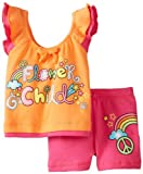 Young Hearts Baby Girls' 2 Piece Flower Child Short Set