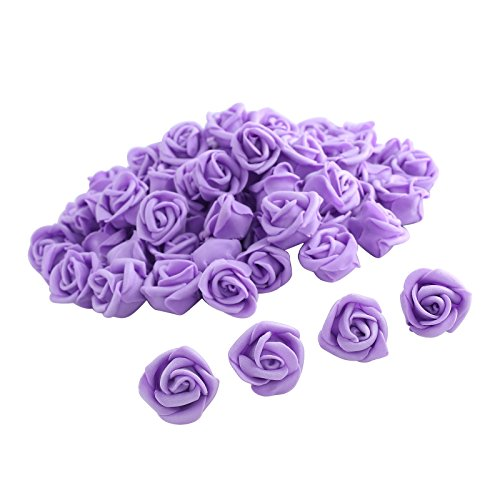 Fake Flower Heads,One Inch Rosess bulk Bridal Shower Decorations Wedding Favor Centerpieces by Pparty (Purple 30pcs) (Purple Center compare prices)