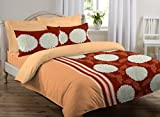JCT 100% Cotton Luxury Double Bed Sheet With 2 Pillow Cover