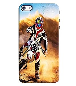 Clarks Super Motor Cross Maddness Hard Plastic Printed Back Cover Case For Apple iPhone 4 4S
