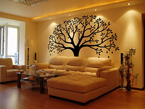 LUCKKYY Large Family Photo Tree Wall Decor Wall Sticker Tree Branch Family Like Branches On A Tree Wall Decorations for Living Room (Black) (Picture Tree For Wall compare prices)