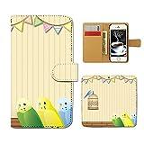 iPhone SE iPhoneSE 手帳型 [E023801_03] 小鳥 インコ 籠 バード 自然 森林 各社共通 スマホ ケース アイフォン