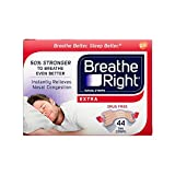 Breathe Right Extra Tan Drug-Free Nasal Strips for Nasal Congestion Relief, 44 count (Tamaño: 44 Count)