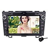 Volsmart 8 inch Android 5.1 Car Stereo Kit for Honda CRV CR-V 2006 2007 2008 2009 2010 2011 Android Navigation System RK3188 Quad Core 1024*600 Display Auto Radio CD DVD Player with Back Up Camera